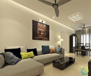 Living area modular interior